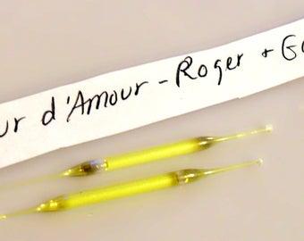 Vintage 1950s Fleurs d'Amour by Roger et Gallet Perfume Nip Sample Vial