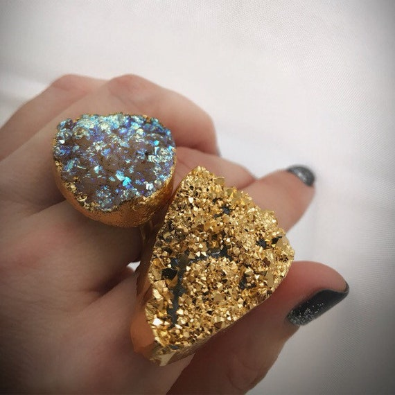 Statement Druzy Rings