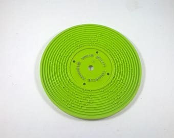 Fisher Price Record Twinkle Twinkle / Au Clair de La Lune  #2 - Green - Music - 1970's Fisher Price Record Player