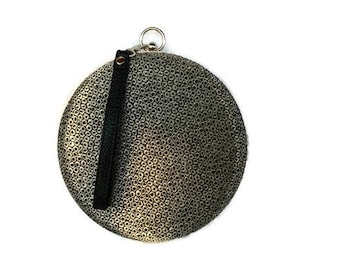 Prom circle minaudiere clutch/ Metallic minaudiere box/Trend purse 2018/ Evening purse/ Customized purse/ Wedding clutch/Personalized clutch