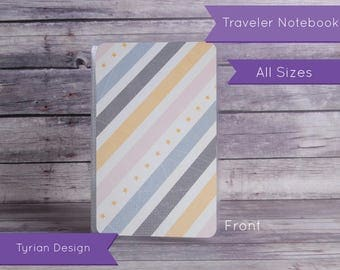 Dashboard for Midori Traveler's Notebook - Various Sizes with pocket option - Yellow Stars - All Sizes