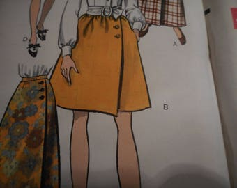 Vintage 1960's Vogue 7450 Skirt Sewing Pattern Waist 27 and 29 Available