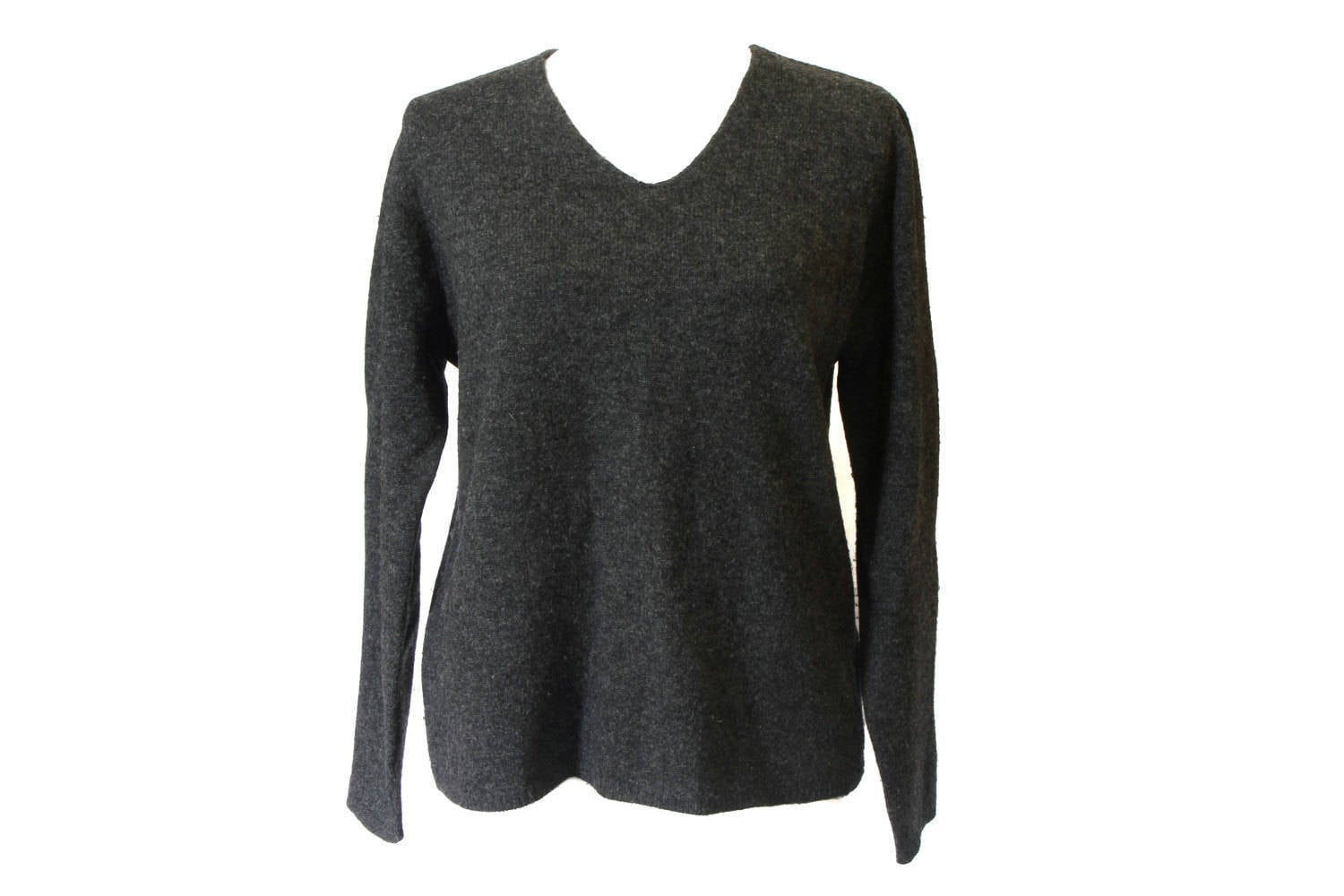 Gray Wool Sweater Womens Pullover Sweater Winter Lambswool