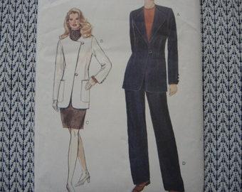 vintage 1990s Vogue sewing pattern 9131 misses jacket skirt and pants size 14-16-18 UNCUT