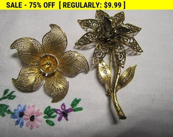 vintage brooches lot, vintage pins for craft