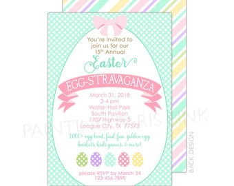 """Easter Egg Party Invitation 