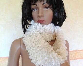 Elegant scarf for women cream color.