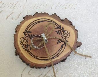 ring bearer pillow/Rustic ring cushion/  wood wedding ring holder/ rustic wedding ring holder/ rustic wedding/  rustic ring cushion/