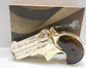 Vintage Avon Derringer Decanter (7) Deep Woods Cologne--2 fl. oz.--Full