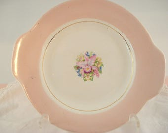 Vintage Shabby Dessert Plate Pink Orchid Royal China Shabby Cottage Chic Vintage Wedding Vintage Bridal Rare
