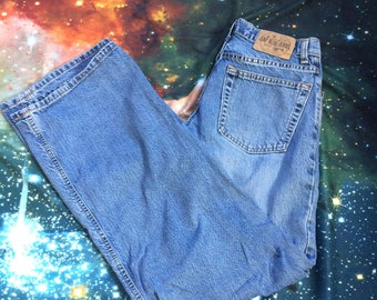 Vintage Gap Super Wide Leg High Waist 90's Style Light Wash Denim Jeans