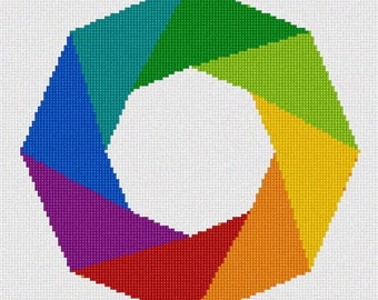 Needlepoint Kit or Canvas: Colored Wreath