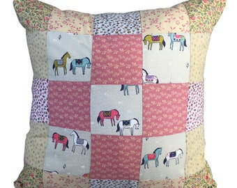 Handmade Patchwork Pony Cushion