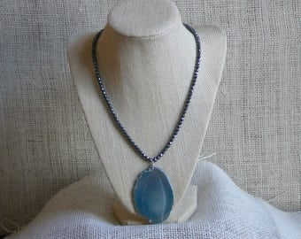 Slice of the Ocean Pendant Necklace