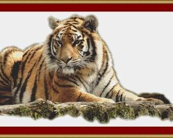 Bengal Tiger Cross Stitch Pattern