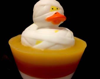 Halloween Candy Corn Rubber Ducky Soap