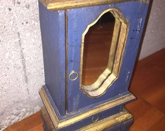 Small Solid Wood Cabinet With Mirror
