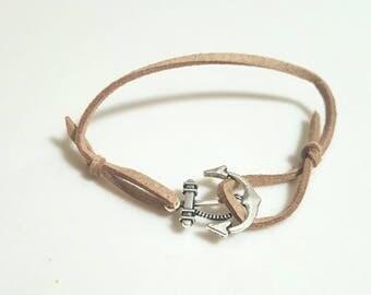 Tan Anchor Bracelet