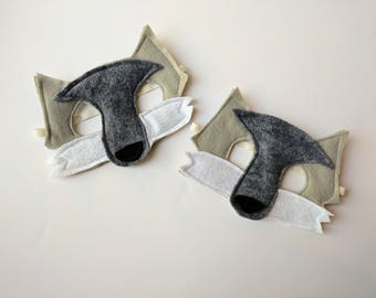 Felt Gray Wolf Mask for Kids
