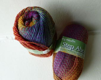 Sale Rain Forest A step Above Sock Yarn by Mary Maxim