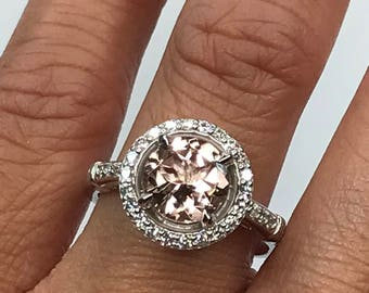CLEARANCE Morganite and Diamond Ring