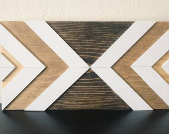 Geometric Wood Wall Decor - Ombre Stain