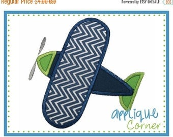 50% Off 038 Airplane applique digital design for embroidery machine by Applique Corner