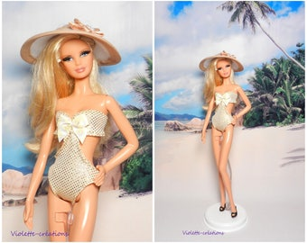 1 piece swimsuit for barbie doll