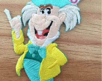 Mad Hatter - Alice In Wonderland - Disney - Movie - Embroidered Iron On Applique Patch B