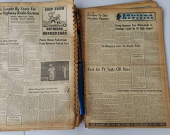 Vintage Newspaper Collection Indiana Official Non-Partisan Public Service 1959-1961 Collectible