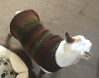 Hand knitted jumper for French Bulldog or Pug