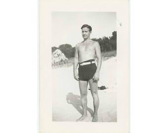 Vintage Snapshot Photo: Trunks, c1930s-40s (77592)
