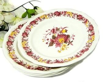 Four Copeland Spode Regency Salad Dessert Plates England