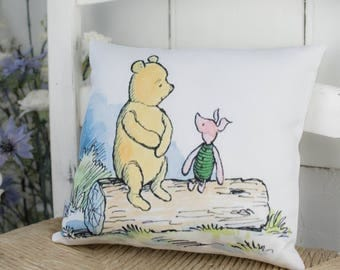 Winnie the Pooh and Piglet Cotton Mini Pillow