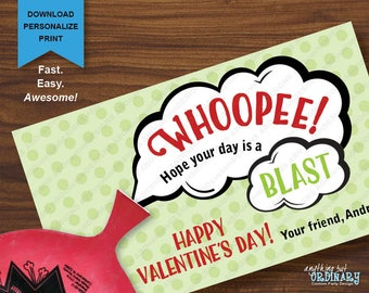 Whoopee Cushion Valentines, Printable Whoopie Cushion Holder Valentine  Cards, INSTANT DOWNLOAD Digital File