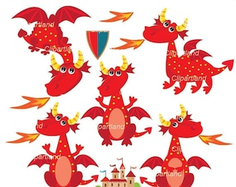 ON SALE INSTANT Download. Dragons clip art. Cdr_3. Personal and commercial use.