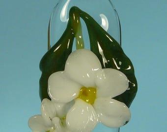 Boro White Blossoms Floral Pendant *NEW*