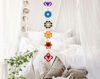 Summer sale 20%Off coupon code: SUMMERSALE2017   Yoga decoration, Wall hanging, Chakras batik, hand painted Tapestry, Spiritual, Meditation,