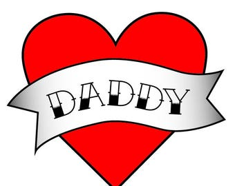 First Fathers Day - Dad Temporary Tattoo - New Fathers - Fathers Day Photo Prop - Fathers Day Gift from Daughter - Temporary Tattoo Kids