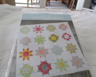 Paper Pattern for a quilt called Wallflowers by Cluck Cluck Sew in 3 sizes