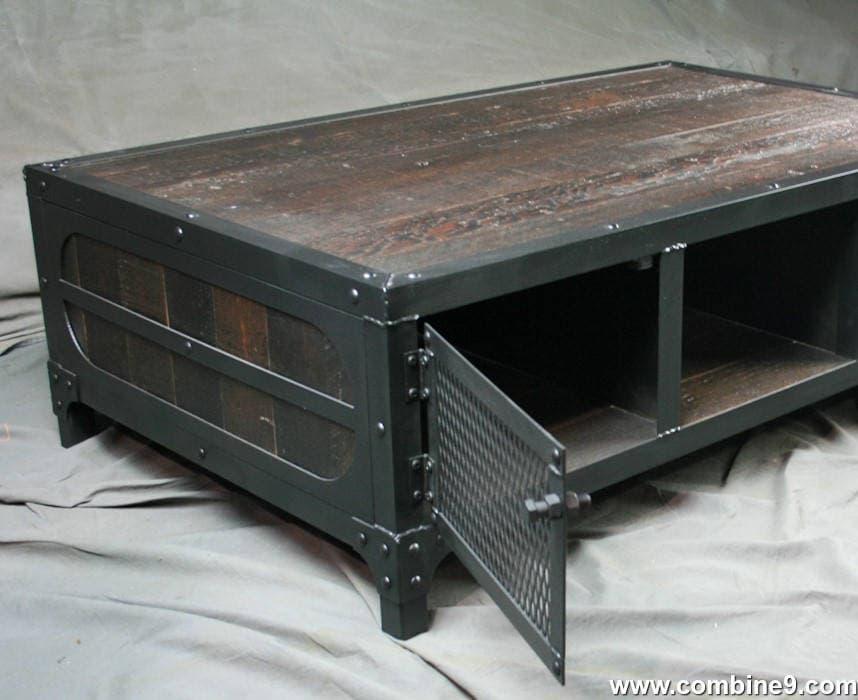 Rustic Industrial Coffee Table Reclaimed Wood Amp Steel