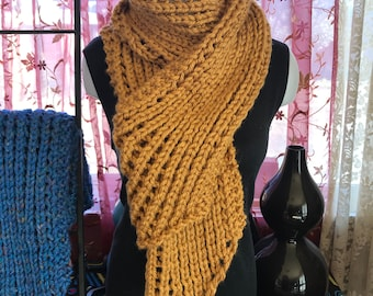 A beautiful scarf that will serve you well when it's really, really cold outside!