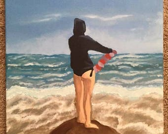 Girl near water