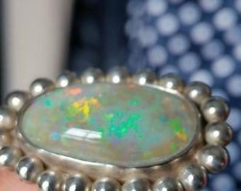 Sterling Silver Mintabie Opal Ring