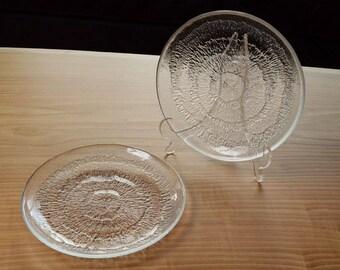 Iittala Solaris Salad / Luncheon Plates / Set of 2 / Made in Finland