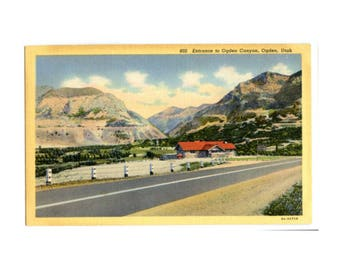 Ogden Canyon, Utah - Vintage Souvenir Postcard