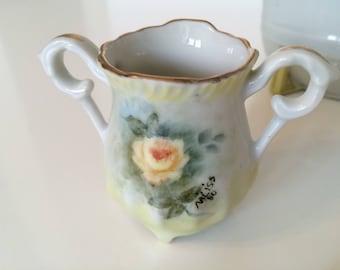 Vintage Yellow Rose Mini Vase Toothpick Holder