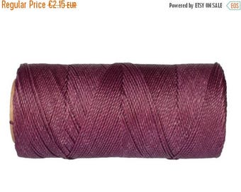 ON SALE Jewelry Cord, Waxed Polyester, 15 meters/16 yards Knotting Cord, Friendship Bracelet String - Plum