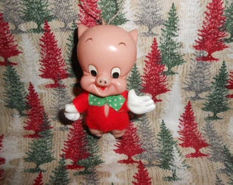 Vintage Warner Bros. Porkey The Pig-Plastic
