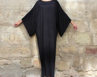 SALE ON 20 % OFF Black Maxi Dress, Caftan, Abaya, Plus size dress, Plus size clothing, Elegant dress, Plus size maxi dress, Kaftan, Party dr